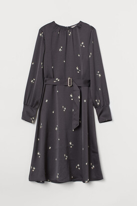 H&M Belted Dress - Gray