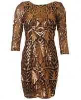 Forever Unique Embellished Long Sleeved Dress