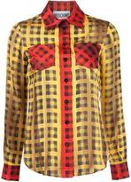 Moschino plaid shirt