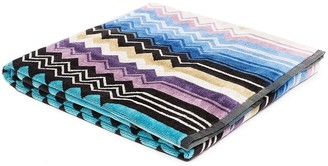 Missoni Home Giacomo chevron print shower towel