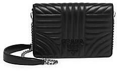 Prada Women's Diagramme Nappa Impunture Shoulder Bag
