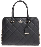 Kate Spade 'Emerson Place - Olivera' Quilted Leather Satchel - Black
