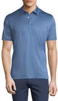 Ermenegildo Zegna Micro-Stripe Cotton Polo Shirt