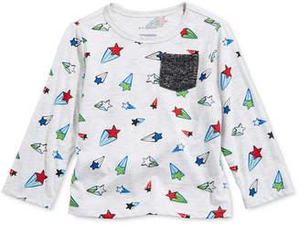 First Impressions Toddler Boys Star-Print Pocket T-Shirt