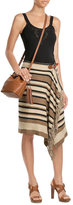 Polo Ralph Lauren Silk-Cotton Blend Fringed Skirt