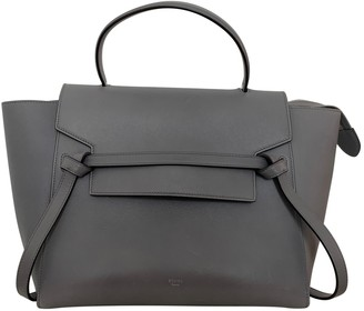 Celine Belt Grey Leather Handbags