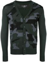 Hydrogen camouflage V-neck cardigan
