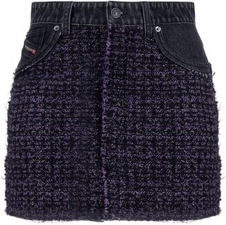 Diesel Boucle-Wool Denim Skirt