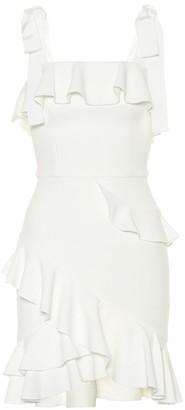 Rebecca Vallance Ruffled crepe minidress