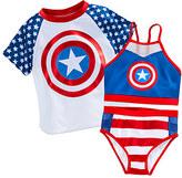 Disney Captain America Swim Set for Girls - 3-Pc.