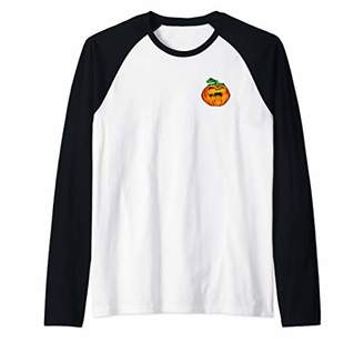 Halloween Trick or Treat Pumpkin Scary Halloween Costume Raglan Baseball Tee