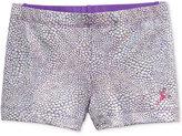 Capezio Foil-Print Dance Shorts, Little Girls (2-6X) & Big Girls (7-16)