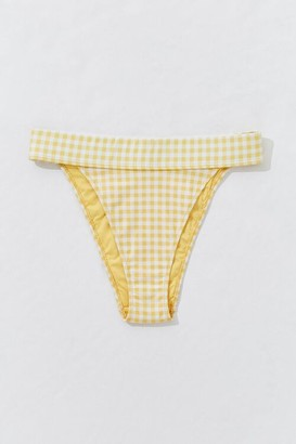 Forever 21 Gingham High-Cut Bikini Bottoms