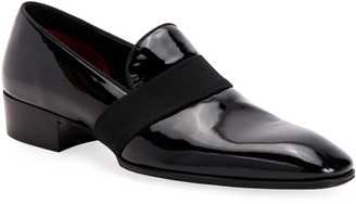 Tom Ford Men's Formal Patent Leather Web-Strap Loafers
