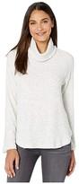 Michael Stars Madison Brushed Long Sleeve Turtleneck Raglan Top (Ash) Women's Long Sleeve Pullover