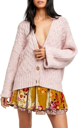 Free People Molly Cable Knit Cardigan