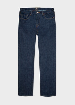 Paul Smith Men's Tapered-Fit Indigo 'Cone Red Selvedge' Denim Jeans