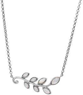 Lord & Taylor Sterling Silver & Mother-Of-Pearl Leaf Pendant Necklace