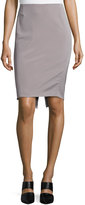 Escada Mid-Rise Pencil Skirt, Platinum