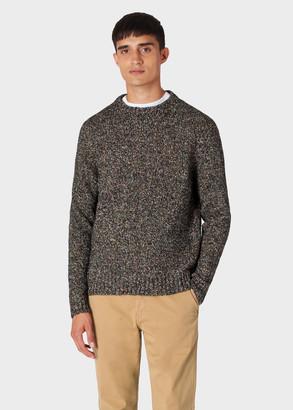 Paul Smith Men's Black Oversized Wool-Blend Twisted-Yarn Sweater