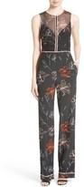 Diane von Furstenberg Women's Floral Print Silk Jumpsuit