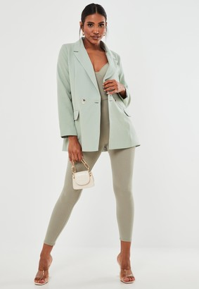 Missguided Petite Mint Co Ord Long Blazer
