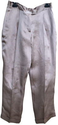 Anne Valerie Hash Pink Silk Trousers for Women