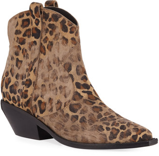 Sigerson Morrison Tacyly Distressed Leopard Booties