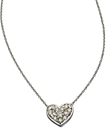 KC Designs White Gold and Diamond Heart Pendant Necklace