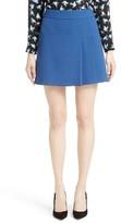 Alice + Olivia Women's Bianka Side Pleat Miniskirt