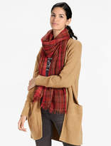 Lucky Brand Plaid Multi Scarf