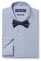 Graham & Graham Men's Dress Shirt & Print Bow Tie Set Blue - Graham & Graham