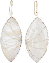 Lana Isabella Large Mother-of-Pearl Marquise Drop Earrings