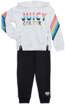 Juicy Couture Little Girl's 2-Piece Cotton-Blend Hoodie & Pants Set