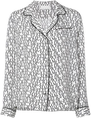 Fleur Du Mal logo print pyjama top