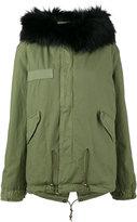 Mr & Mrs Italy - Black fox fur trimmed parka coat - women - Cotton/Lamb Skin/Polyester/Polypropylene - XXS