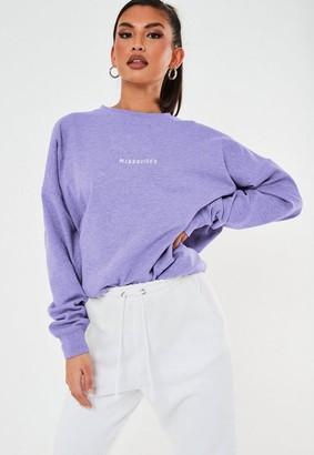 Missguided Slogan Oversized Sweatshirt