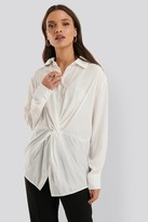 NA-KD Knot Front Blouse
