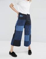 Dr. Denim Lykke Patchwork Wide Leg Culotte Jeans