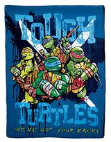 Nickelodeon Teenage Mutant Ninja Turtles, Tough Turtle Blues Printed Fleece Throw by The Northwest Company, 45 by 60""