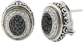 Effy Jewelry Effy 925 Black and White Diamond Earrings, .55 TCW