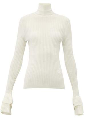 Chloé Roll-neck Merino-wool Sweater - Womens - Ivory
