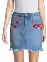 The Fifth Label Embroidered Floral Denim Skirt