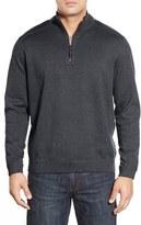 Tommy Bahama Men's Big & Tall 'New Flip Side Pro' Reversible Quarter Zip Sweater