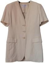 Krizia Ecru Linen Jacket for Women