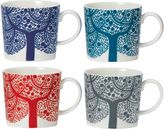 Royal Doulton Fable Accent Tree Mug (Set of 4)