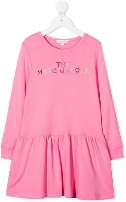 The Marc Jacobs Kids Logo Embellished Shift Dress