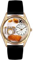 Whimsical Watches Women's C0620016 Classic Gold Photographer Black Leather And Goldtone Watch