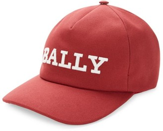 Bally Logo Canvas Baseball Cap