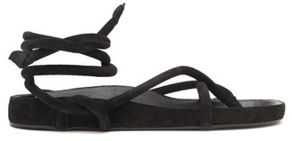 Isabel Marant Lastro Wraparound Suede Sandals - Black